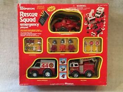 Vintage Supertoys Rescue Squad Emergency Playset New In Box Figures Vehicles A++