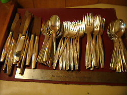 Sea Spray Silverware Silverplate Is Rogers And Son Service For 12 70 Pcs