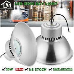 50x 50W LED High Bay Light Lamp Factory Warehouse Industrial Roof Shed lighting