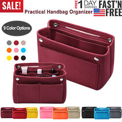 Women Organizer Handbag Felt Travel Bag Insert Liner Purse Organiser Pouch USA $9.52