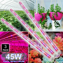 45W LED Grow Light T8 Tube 3FT 90CM SMD2835 Growing Lamp Bar Indoor Hydroponic
