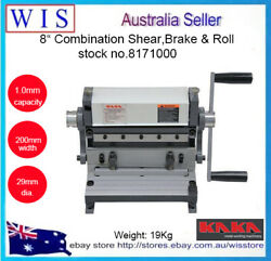 3 In 1 8200mm Combination Sheet Metal Brake, Shear And Roll-8171000