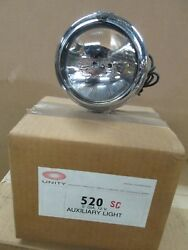 Unity 520sc Vintage New Chrome 5 Single Round Crystal Off Road Lamps 110000cpwr