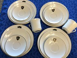 Vtg 4 4 Pc Settings Western Air Lines Mayer China By Interpace 472 Minus 2 Cups