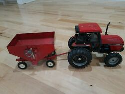 Case International Ih Ertl 3294 Tractor Front Assist Red Gravity Wagon Toy