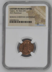 AD 4th Century Bronze Roman Coin NGC Roman Christian Emperors Mixed Rulers