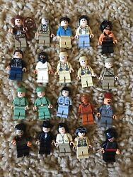 Lego Indiana Jones Marion Mutt Dovencho 20 Different Minifigs Lot 7623 7199 7622