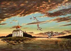Ivan Kozlov Dropping In 1990 Ussr Duck Stamp Print
