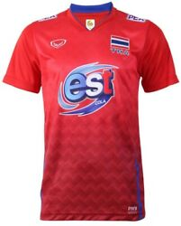 100 Authentic Thailand National Volleyball Team Jersey Shirt Red Player
