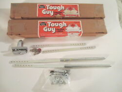 Lot Of 2 Tough Guy Chrome Plated Sure Safe Trunk Locks. With Tubular Keys - Nos