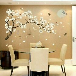 Tree Wall Birds Flower Stickers Home Decor Wallpapers