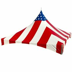 20and039x20and039 Red White Blue High Peak Replacement Tent Top Waterproof Vinyl Canopy