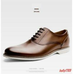 # Mens Real Leather Lace Up Formal Business Wedding Dress Shoes Oxfords NEW