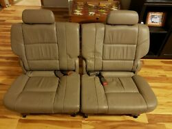 01-07 Sequoia Third 3rd Row Leather Backseat Back Rear Buckets Seats Headrests