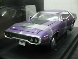 Wow Extremely Rare Plymouth 440/6 S2 V8 Road Runner 1971 Purple Mt 118 Rc2 Ertl