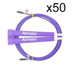 Lot Of 50 Purple Speed Wire Adjustable Jump Rope For Cardio Crossfit Boxing Gym