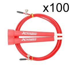 Lot Of 100 Red Speed Wire Adjustable Jump Rope For Cardio Crossfit Boxing Gym