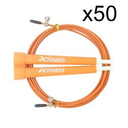 Lot Of 50 Orange Speed Wire Adjustable Jump Rope For Cardio Crossfit Boxing Gym