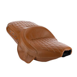 Indian Motorcycles Genuine Leather Extended Reach Heated Seat Tan 2882423-06
