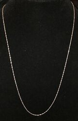 New Sterling Silver 928 Serpentine Twisted Chain Italy Alfi Necklace 24