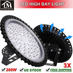 3x 200W UFO LED High Bay Light Factory Warehouse Industrial Workshop Shed Mall