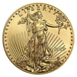 Eighty (80) HALF ounce 2019 American Gold Eagles (40 oz total gold) - FREE ship