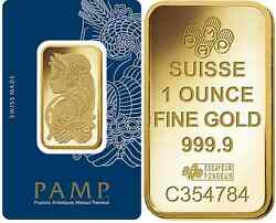 Fifty (50) 1 oz PAMP Suisse Gold bars - new in assay cards - FREE shipping