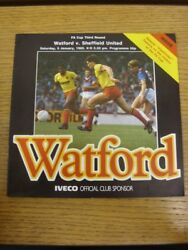 05/01/1985 Watford V Sheffield United [fa Cup] . Faults With This Item Should Ha