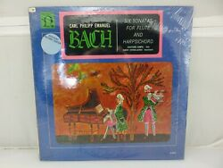 Bach Six Sonatas For Flute & Harpsichord Rampal LP New Old Stock SEALED