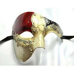 Phantom of the Opera Red Musical Venetian Gold Masquerade Masks