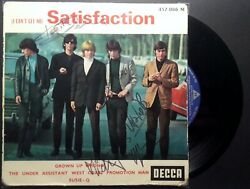Disque Vinyle Dedicace  The Rolling Stones Satisfaction I Canand039t Get No