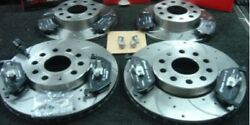 Volkswagen Scirocco R 2.0 Brake Disc Cross Drilled Grooved Front Rear Mintex Pad