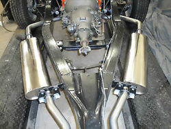 1958 Chevrolet Stainless Steel Dual Exhaust Kit And Hangers 348 Bbc 2