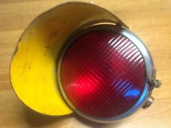 Wow Ls 385 Red Glass Lens Stop Lamp Early Tail Light Vintage Bus Truck