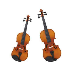 Professional 44 34 Size Acoustic Violin with Storage Bag Bow Rosin Set