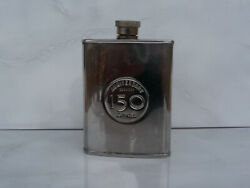 Dewar's Metal Flask Anniversary 150 Years 1846 - 1996 Scotch Whisky Used Rare