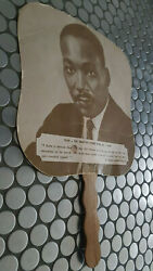 60and039s Martin Luther King Jr.hand Fan Maddenand039s Funeral Home Kingston Jamaica Rare