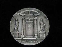 St Peter And St Paul, Holy Door 1925 Pope Pius Xi Silver Vatican Medal / Coin
