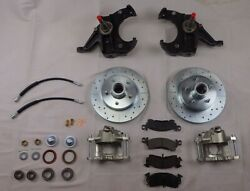1971-1972 Chevrolet C10 Chevy Truck 2.5 Inch Drop Spindle Disc Brake Kit Drilled