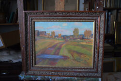 Antique 1983 Original Russian Painting Oil On Canvas Sergey G.