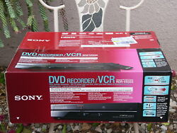 New Sony Rdr-vx555 Tunerless Dvd Recorder Vcr Combo Vhs Player 1080i Hdmi Port