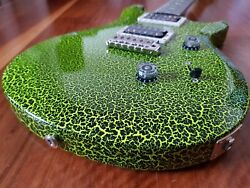 Paul Reed Smith PRS Limited S2 Custom 24 Neon Lime Green Crackle Guitar McCarty