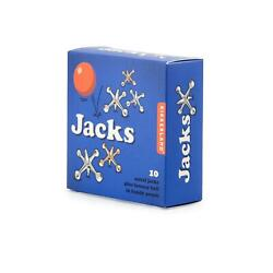 Kikkerland Jacks Game 10 Metal Jacks And Bouncy Ball Traditional Game Gift Idea