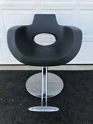 4 Salon Styling Swivel Chairs Gamma And Bross Roto Base Italian W/ Foot Rest Nice