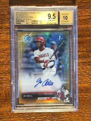 JO ADELL 2017 Bowman Chrome Gold Refractor Auto /50 BGS 9.5/10 A07 QTY