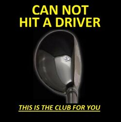 1 Left Handed Driving 13anddeg I-driver Hybrid Iron Wood Rescue Golf Club Left Hand
