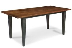 72 W Constantine Table Hand Crafted Solid Wood Industrial Metal Base And Legs