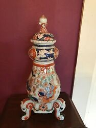 Antique Japanese Imari Coffee Urn And Cover