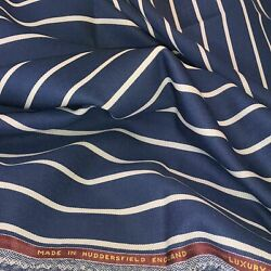 Denim And White Stripe 1and039and039 Boating/blazer 2.5 Meters Jacketing Fabric