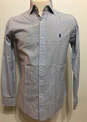 Pre Owned Polo By Botton Down Plaid Men Long Sleeve Size 15/38